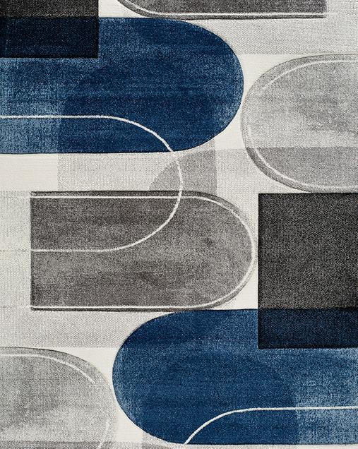 Alfombra Geométrica Mya 24378 Azul