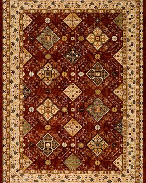 Alfombra Tradicional Nova 5654 Rojo