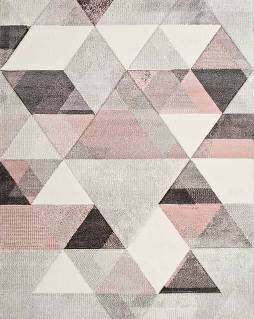 Alfombra Geométrica Pinky 22405 Multi