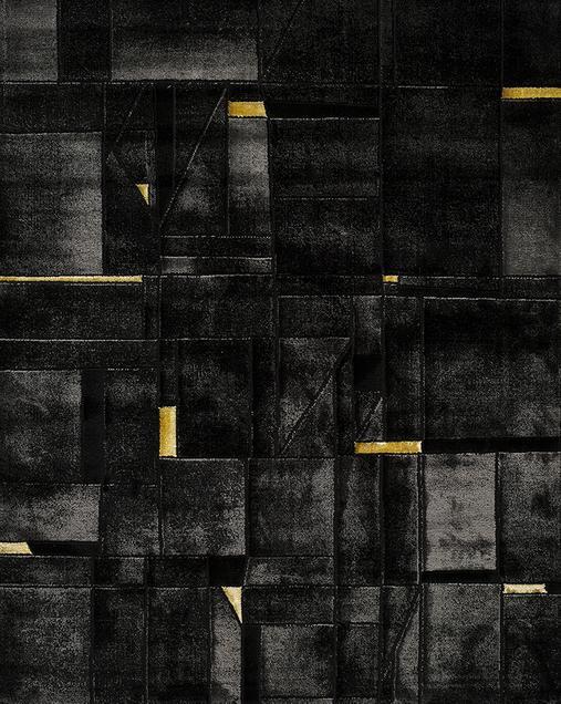 Alfombra Geométrica Tebas 50002 Black