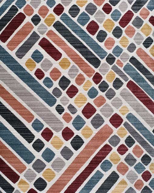 Alfombra Geométrica de estilo Vintage Tivoli 3900 Multi