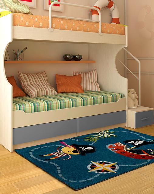 Alfombra con motivos Naturales Toys 21835 Azul