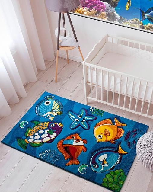 Alfombra con motivos Naturales Toys 22308 Azul