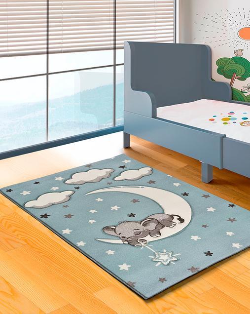Alfombra con motivos Naturales Toys 24268 Azul