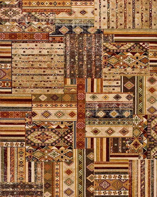 Alfombra Tradicional con motivos Patchwork Turan 10068 Multi