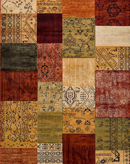 Alfombra Tradicional con motivos Patchwork Turan 5633 Multi