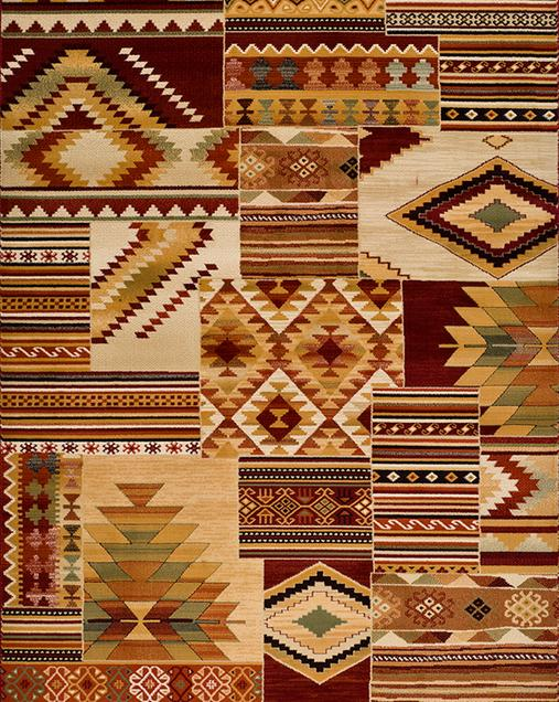 Alfombra Tradicional con motivos Patchwork Turan 5649 Multi