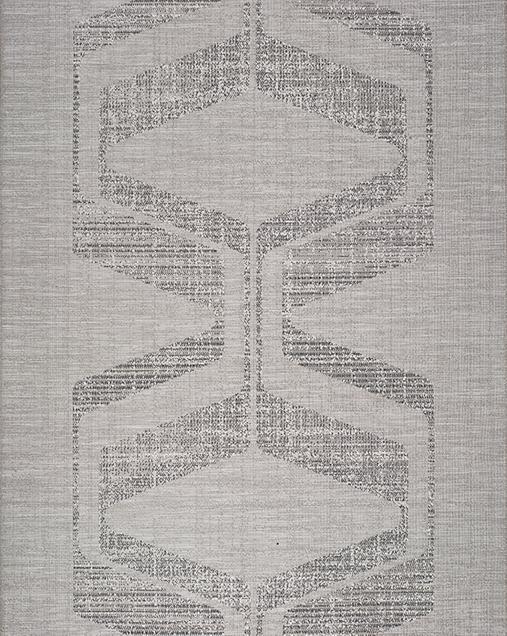 Alfombra Étnica de estilo Vintage Weave 9327 Gris